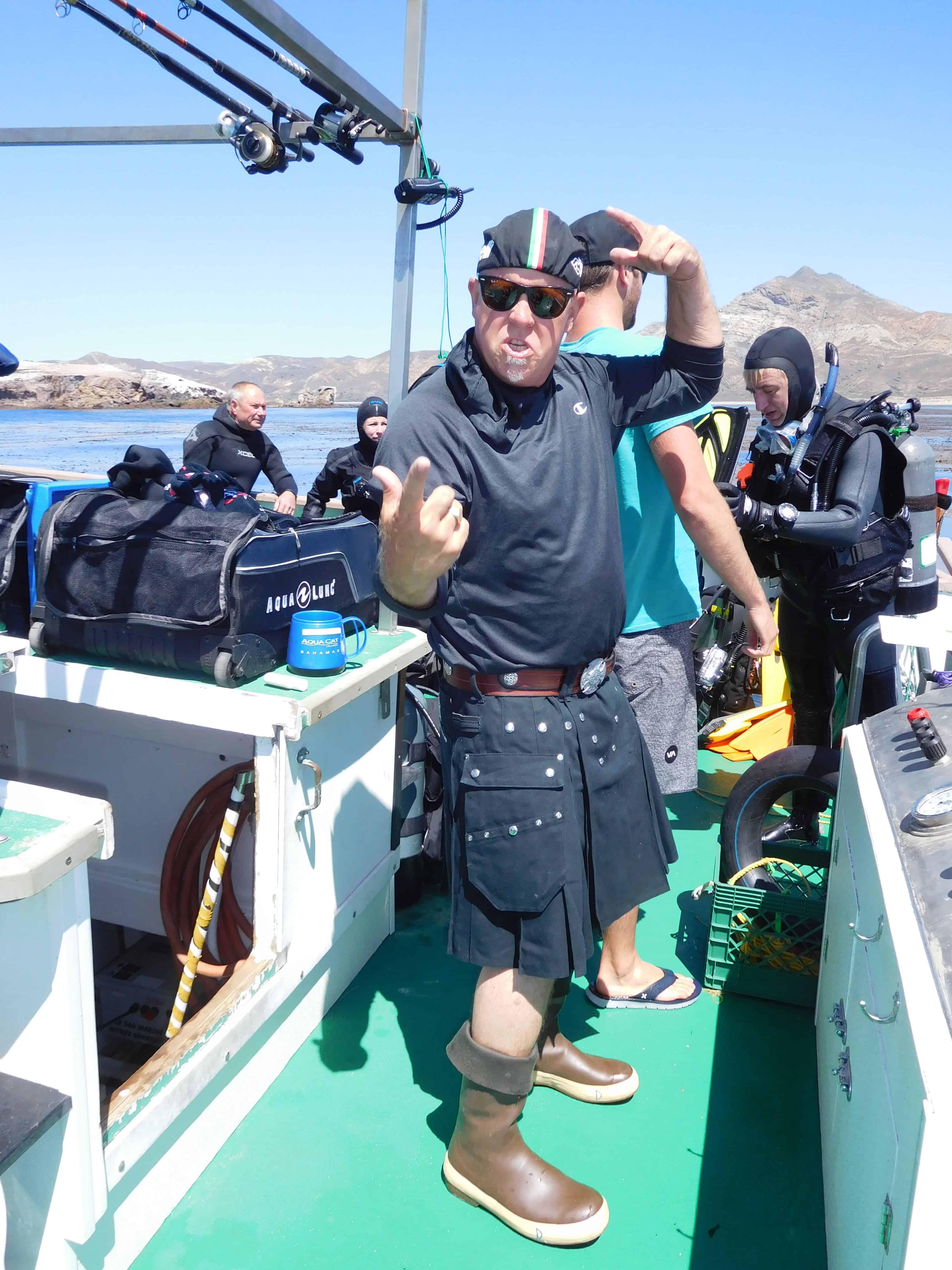 Captain Davey on a channel islands dive adventures scuba trip