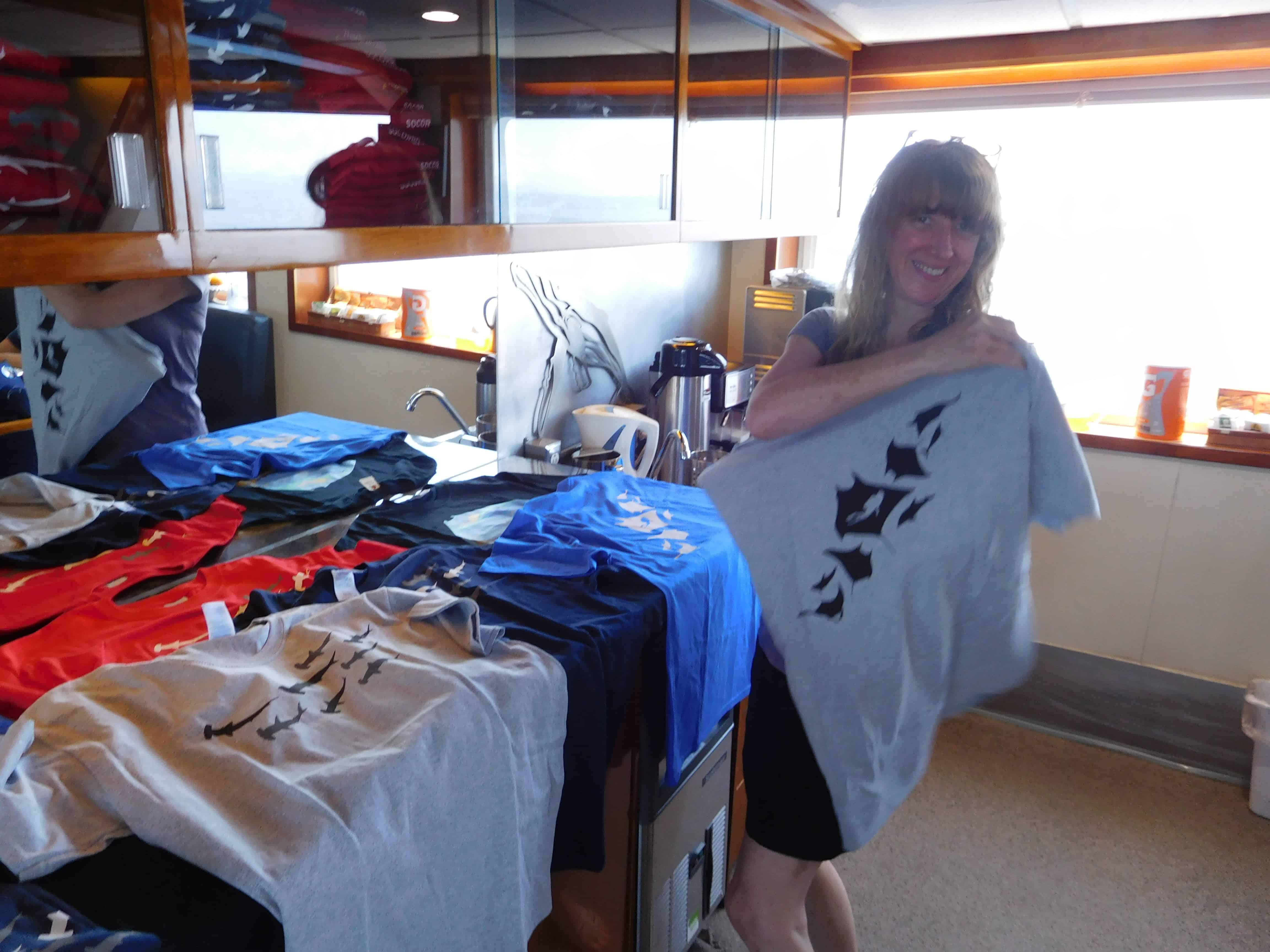Buying gifts on our Channel Islands Dive adventures Socorro trip aboard the Nautilus Explorer