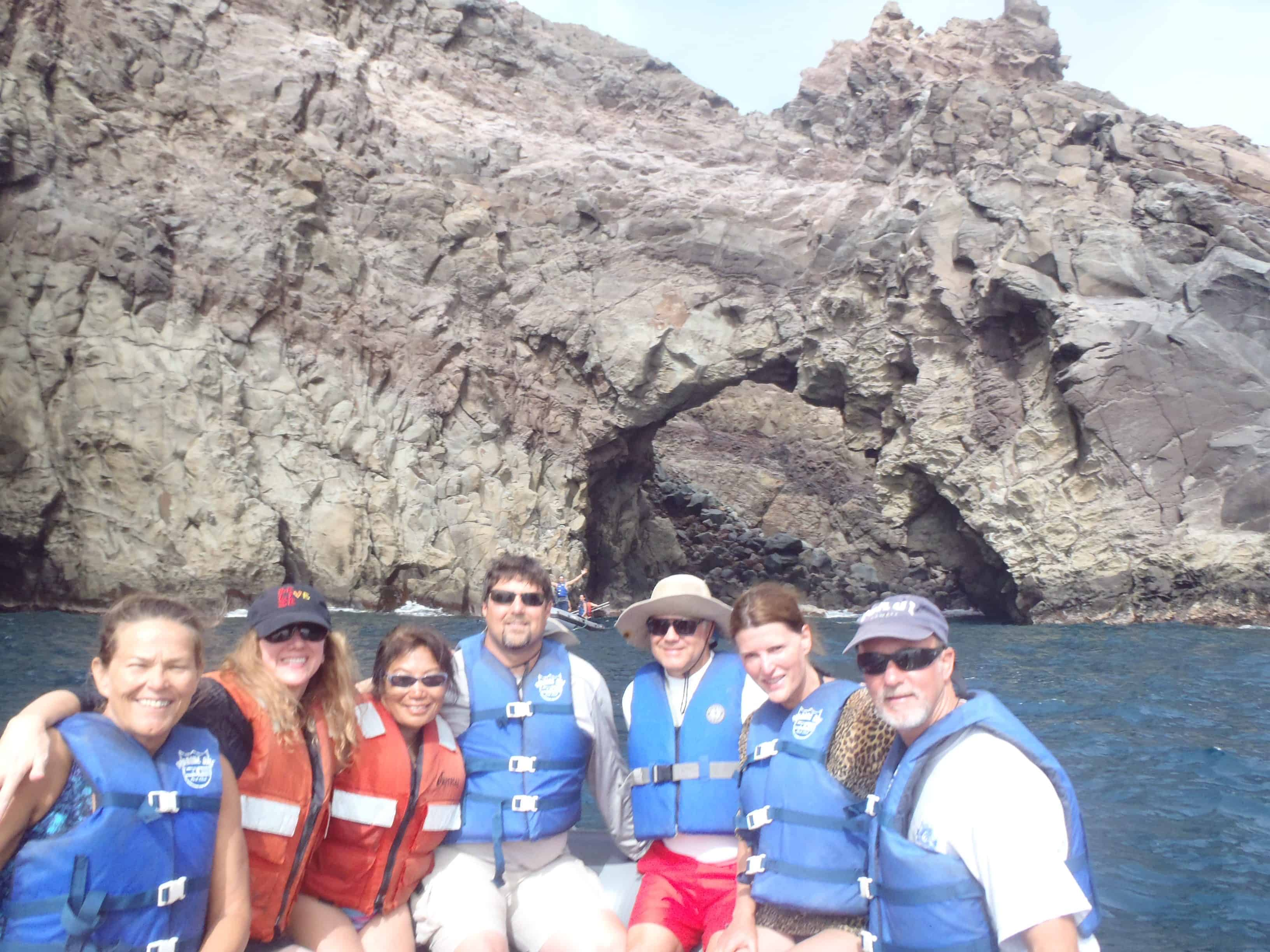 sightseeing at San Benedicto on our Channel Islands Dive adventures Socorro trip aboard the Nautilus Explorer