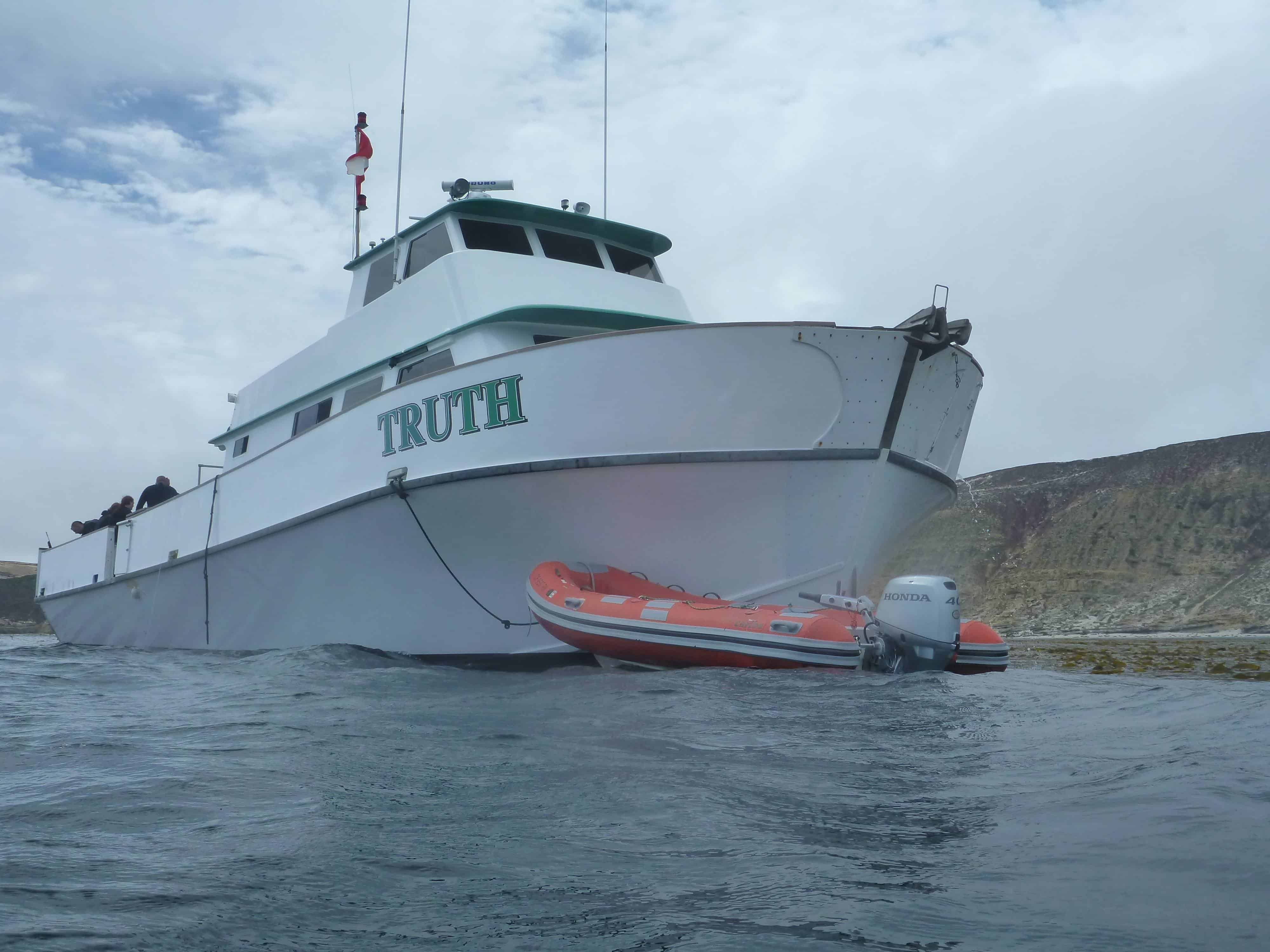 San Miguel Island Truth Dive Boat