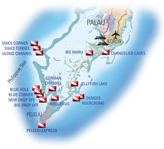 route of the palau aggressor